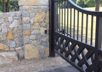 talbert custom iron driveway gate1560