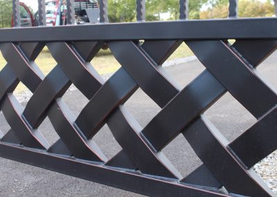 talbert custom iron driveway gate1565