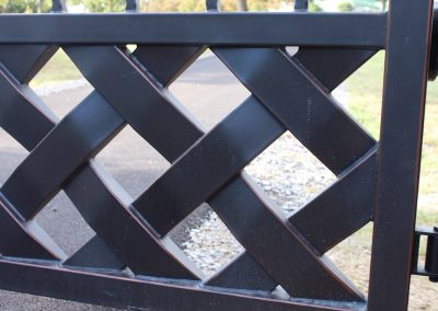 talbert custom iron driveway gate1566
