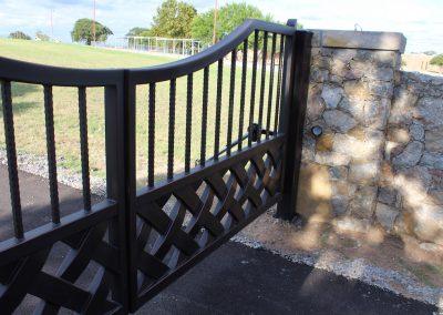 talbert custom iron driveway gate1568