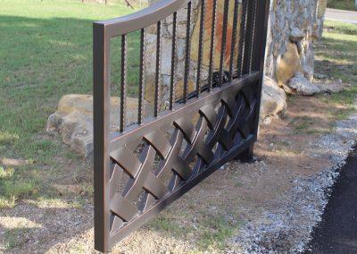 talbert custom iron driveway gate1573