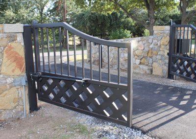 talbert custom iron driveway gate1576
