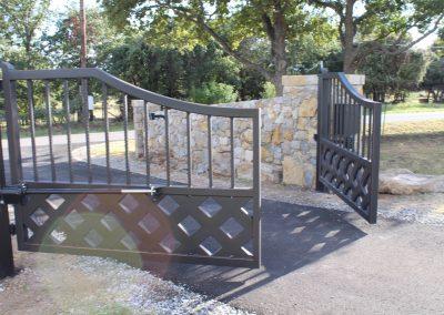 talbert custom iron driveway gate1579