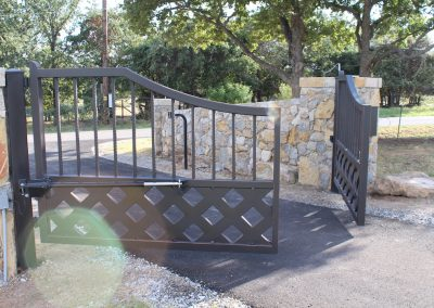 talbert custom iron driveway gate1580