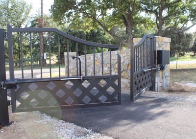 talbert custom iron driveway gate1582