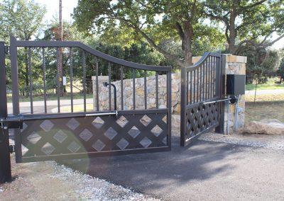 talbert custom iron driveway gate1583