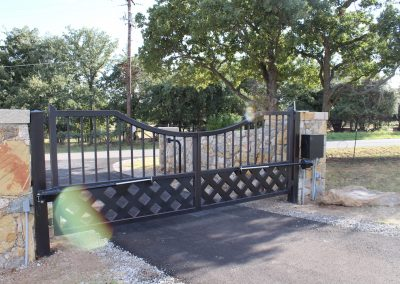 talbert custom iron driveway gate1586