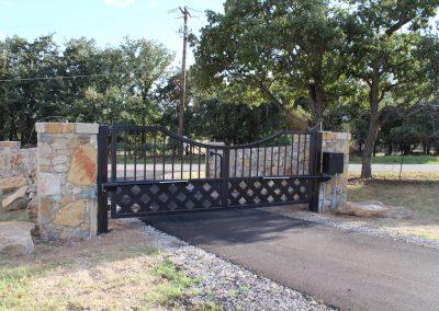 talbert custom iron driveway gate1587