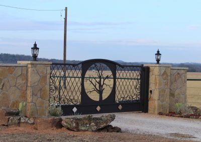 vanessa custom iron ranch gate1675