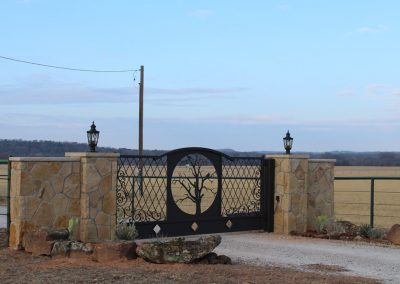 vanessa custom iron ranch gate1676
