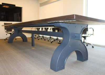 custom black metal desk