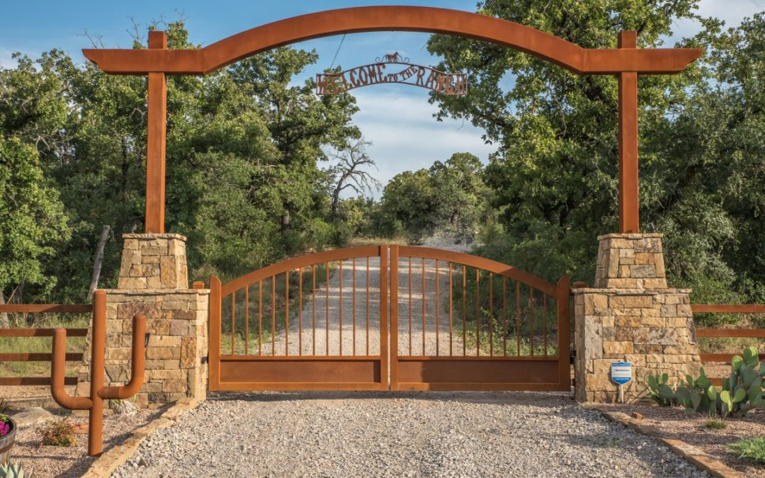 rustic ranch gate