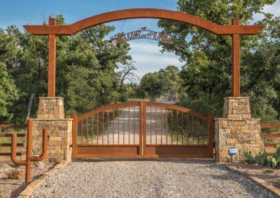 rustic ranch gate