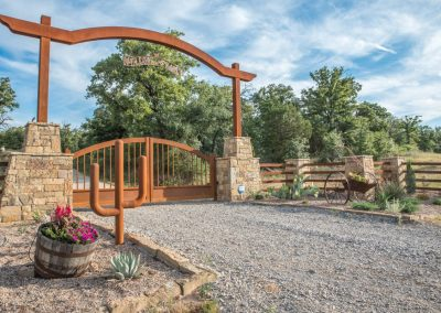 rustic ranch gate welcome cactus