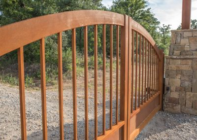force-rusted ranch gate