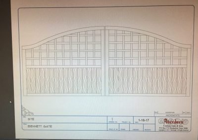 AutoCAD gate drawing