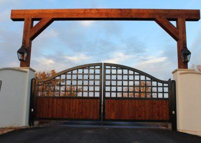ranch gate wood insert