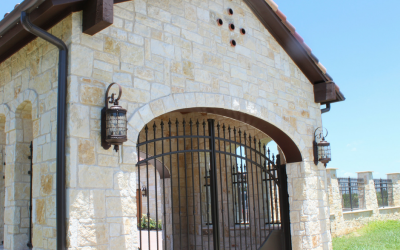 Porte Cochere Gates for Mediterranean-Style Home