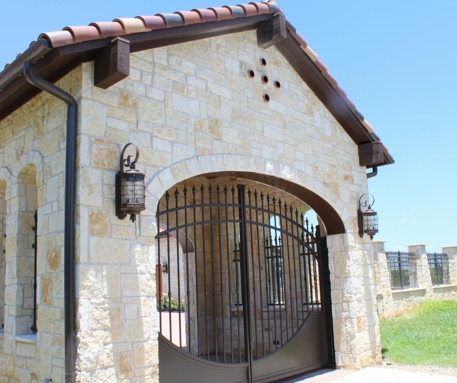 porte cochere iron gate