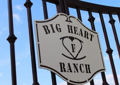 custom sign metal gate personalized gate