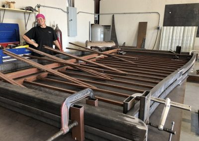 making second of double iron gate