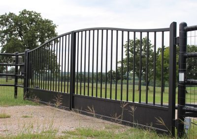 simple traditional double iron gate