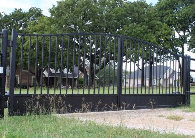 traditional simple iron gate entrance