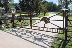 iron Thoroughbred horse gate