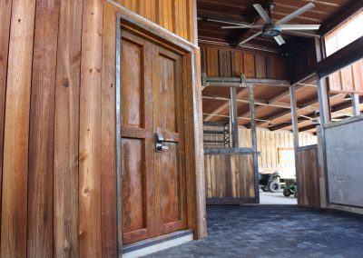 rustic saddle room doors