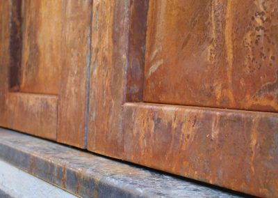 rust patina iron door finish
