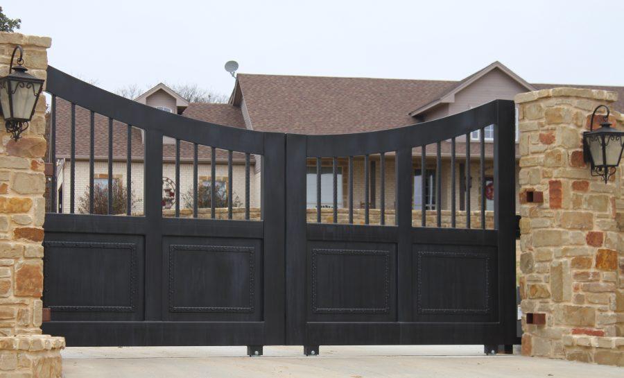 old world style double gates