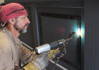 hot rivet iron gate detailing