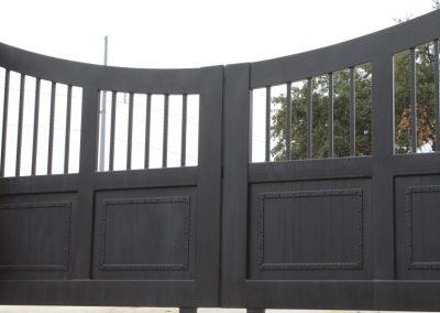 old world style painted sliding gates