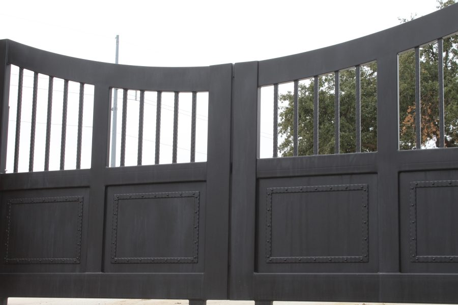 rustic wash finish on iron gates