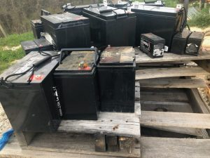 used battery graveyard