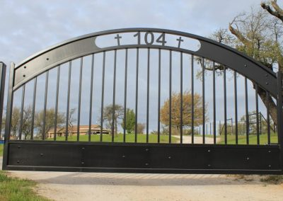 Personalized Matte-Black Gate