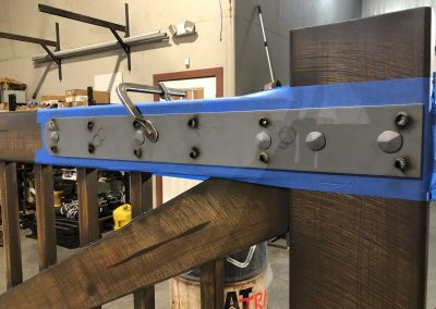 gate bracket detailing