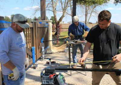 installing faux-wood gates