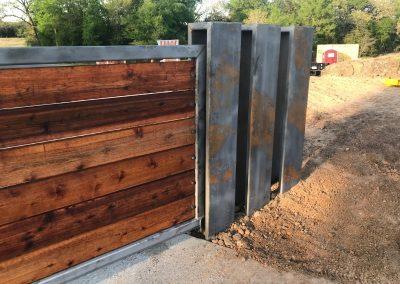 modern farmhouse iron driveway gate