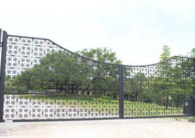 Mediterranean-style iron gate