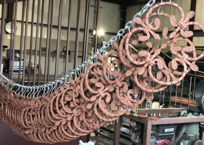 primer paint on iron gate rosettes