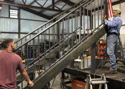 fabricating iron staircase