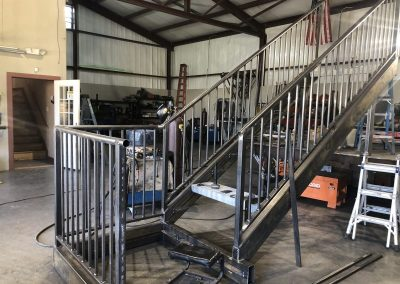 iron staircase in shop