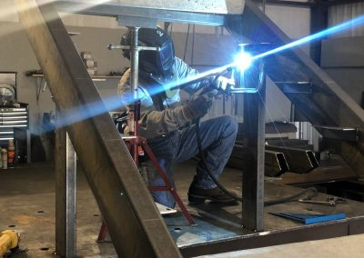 welding iron staircase