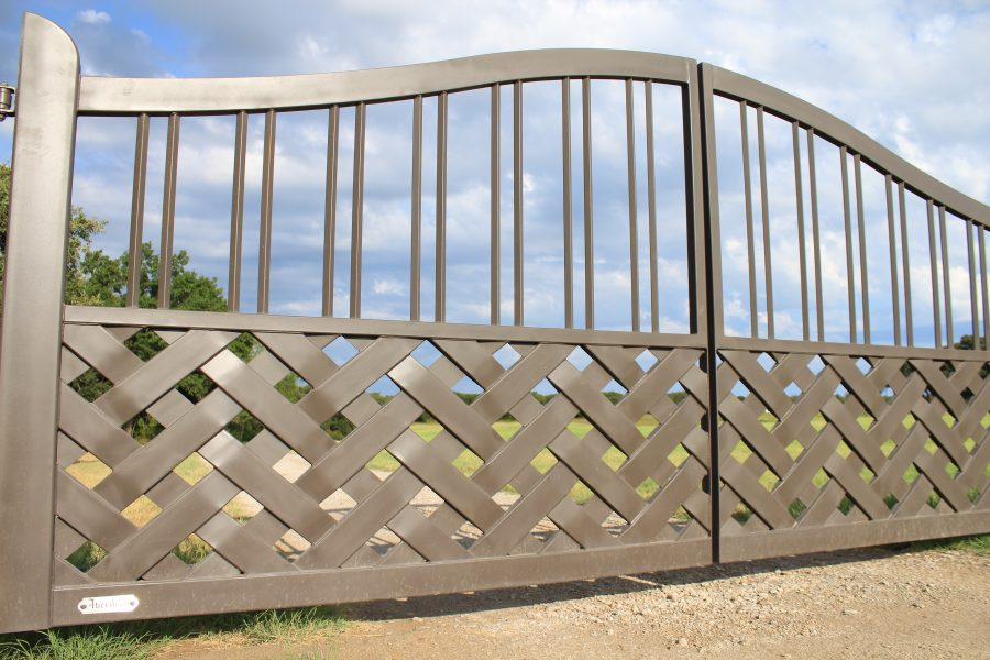braided iron gate