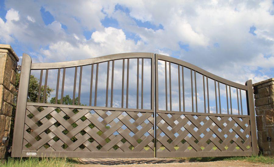 braided iron driveway gate