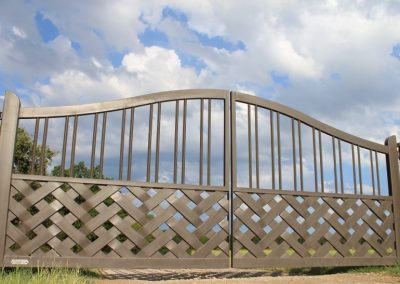 Braided Iron Ranch Gate