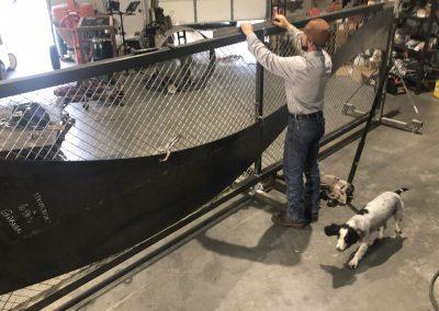 fabricating iron gate