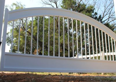 Arched White Gate and Header