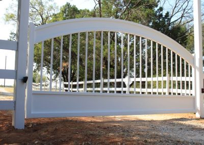 white washed iron gate